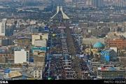 هوای نیمه ابری پایتخت در 22 بهمن