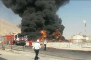 مهار آتشسوزی پتروشیمی مبین تا ساعاتی دیگر