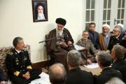 رهبر معظم انقلاب اسلامی در دیدار فرماندهان و مسئولان نیروی دریایی ارتش: شروع دوباره تحریمی که زمانش تمام شده، تحریم و نقض تعهدات است